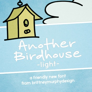 Another Birdhouse Light Font for Commercial Use