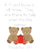 Another Celebrated Dancing Bear Bible Verse Printable (Proverbs 17.17)