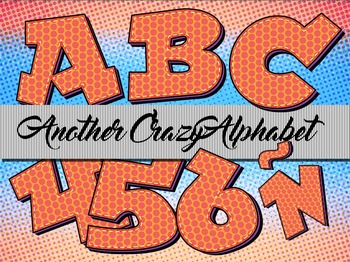 """Another Crazy Alphabet Clip Art  /  97 pcs - 3.5"""" High, Vector PDF and PNGs"""