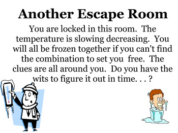Another Escape Room with operations with integers and order of operations