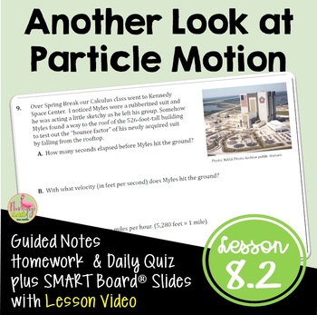 Calculus Another Look at Particle Motion