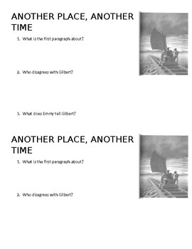 Another Place Another Time Quiz
