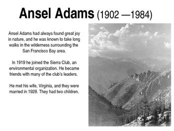 Ansel Adams PPT, K-8