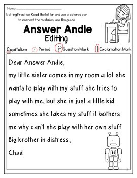 Answer Andie: Beginning Punctuation and Capitalization