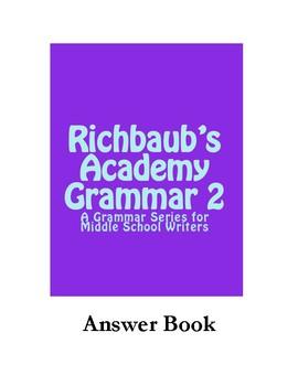 Answer Book for Richbaub's Academy Grammar 2
