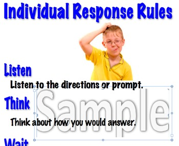 Answer Expectations Posters