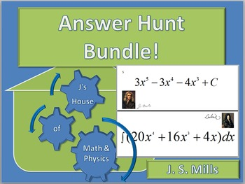 Answer Hunt Bundle--Product Rule, Chain Rule, Basic Integrals
