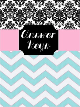 Answer Key Binder Cover Sheet