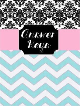 Answer Key Binder Cover Sheet