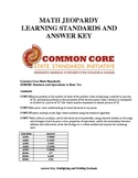 Answer Key & Common Core Standards for Math Jeopardy Game (Decimals)