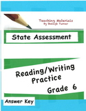 Answer Key: Reading/Writing Practice Grade 6