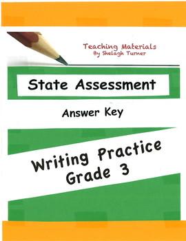 Answer Key: Writing Practice Grade 3