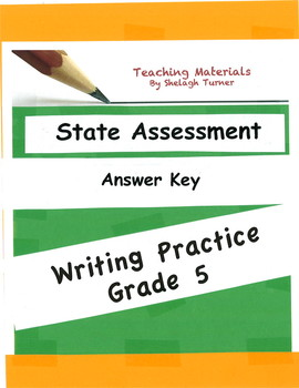 Answer Key: Writing Practice Grade 5