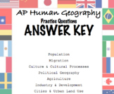 Answer Key for 101 Question Packet