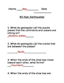 Answer Key for Bill Nye's Earthquakes Video Lesson 6