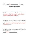 Answer Key for Bill Nye's Earth's Crust Video Worksheet