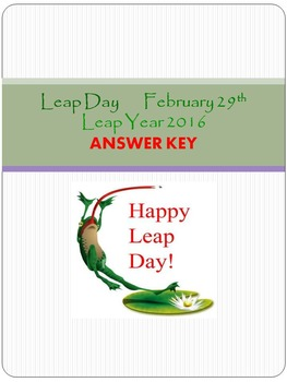 Answer Key for Leap Year Packet