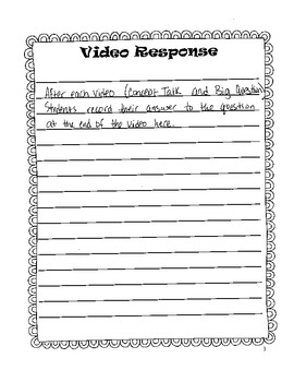 Answer Key for Reading Street Common Core Student Response Log