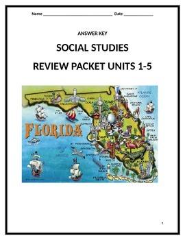 Answer Key for Social Studies Guide for EOC