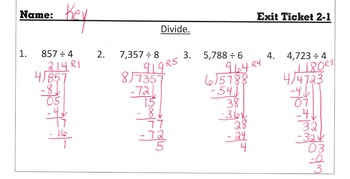 Answer Keys for Go Math Chapter 2 Exit Slips/Quizzes/Quick Checks