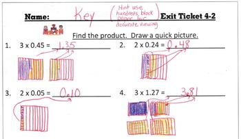 Answer Keys for Go Math Chapter 4 Exit Slips/Quizzes/Quick Checks