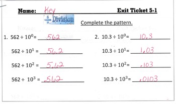 Answer Keys for Go Math Chapter 5 Exit Slips/Quizzes/Quick Checks