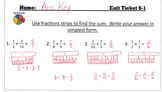 Answer Keys for Go Math Chapter 6 Exit Slips/Quizzes/Quick Checks