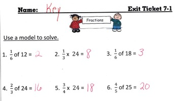 Answer Keys for Go Math Chapter 7 Exit Slips/Quizzes/Quick Checks