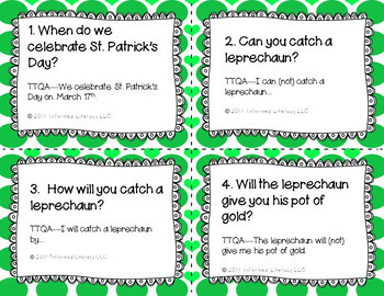 Answer My Question Game: Oral Practice of TTQA St. Patrick's Day Edition