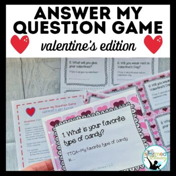 Answer My Question Game: Oral Practice of TTQA Valentine's Day Edition