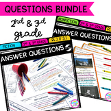 Answer Questions in Fiction & Nonfiction Text Bundle- 2nd and 3rd Grade