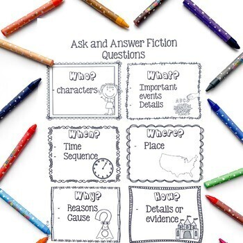 Ask and Answer Questions in Fiction Text- RL.2.1 & RL.3.1