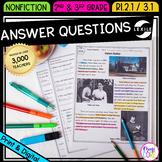 Ask & Answer Questions - 2nd RI.2.1 & 3rd RI.3.1 - Print &