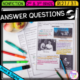 Answer Questions in Nonfiction Text- RI.2.1 & RI.3.1