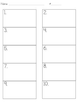 Answer Sheet- 10 Boxes
