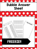 Bubble Answer Sheet Template