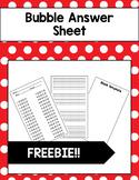 Bubble Answer Sheet Template