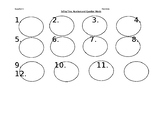 Answer Sheet for Task Cards on Time, Numbers and Question Words