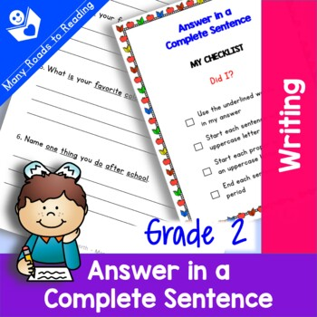 Answer in a Complete Sentence Grade 2