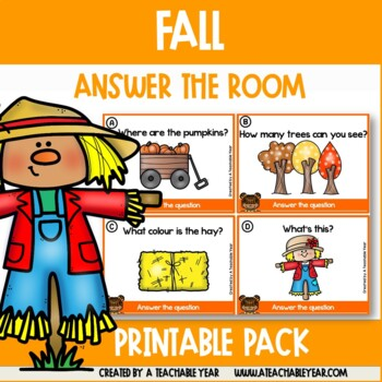 Answer the Room Fall Literacy Centers