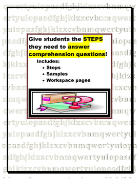 Answering Comprehension Questions (strategy pages for form