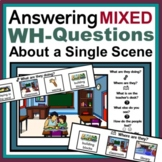 Answering Mixed Wh- Questions about a Scene: Discriminatio