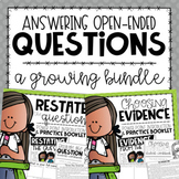 Answering Open-Ended Questions BUNDLE {Introductory Lessons & Practice Books}