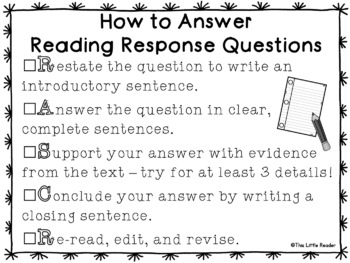 Answering Open Reading Response Questions