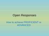 Answering Open-Response Questions on State Standardized Te