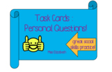 Answering Personal Questions Task Cards