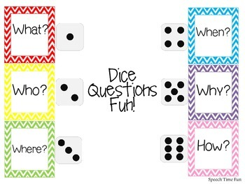 Answering Questions Dice Game