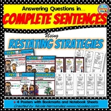 Comprehension - Answering Questions in Complete Sentences
