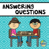 Answering Questions:  What are the children doing?