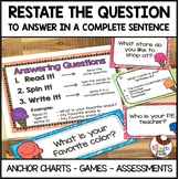 Restate the Question Practice   5 Day Unit